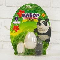 Набор для творчества из массы для лепки, основа яйцо, глазки 'Панда'
