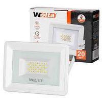 Светодиодный прожектор 20 Вт WFL-20W/06W белый  5500K  SMD IP65 1700 Лм Wolta