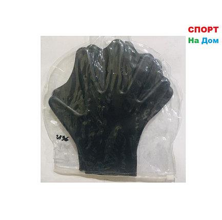 Ласты перчатки для рук (перепонки для плавания, цвет черный), фото 2