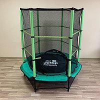 Батут для детей с защитной сеткой  Get Jump Green 140 см