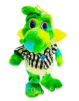 Мягкая Игрушка Дракон прыгающий музыкальный зеленый, фото 1