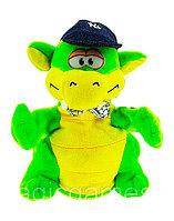 Мягкая Игрушка Дракон с кепкой танцующий музыкальный зеленый