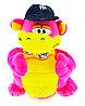 Мягкая Игрушка Дракон с кепкой танцующий музыкальный розовый