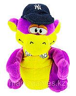 Мягкая Игрушка Дракон с кепкой танцующий музыкальный фиолетовый, фото 1
