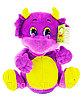 Мягкая Игрушка Дракон с рогами танцующий музыкальный фиолетовый