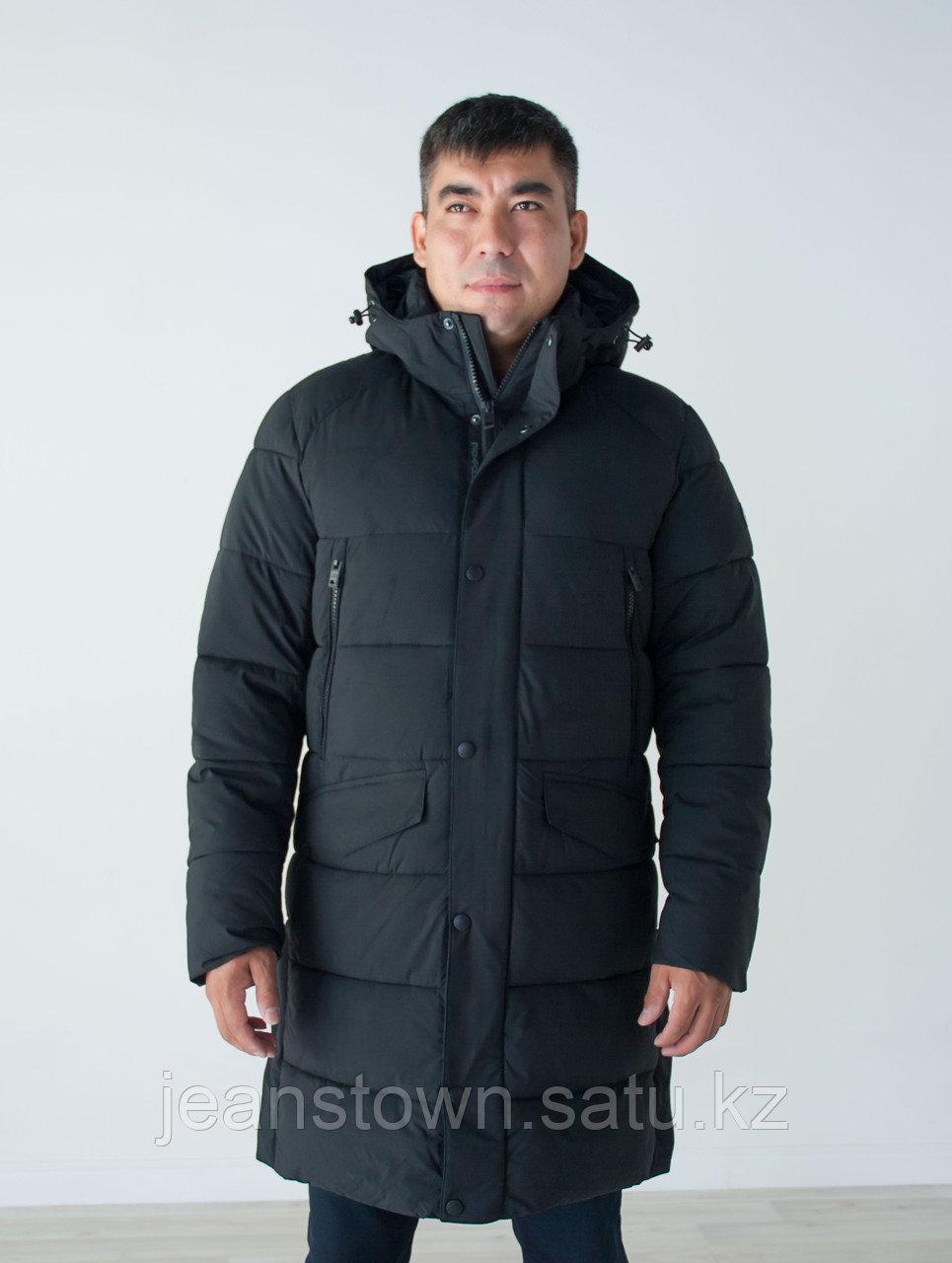 Куртка мужская зимняя  Frompoles  длинная,черная