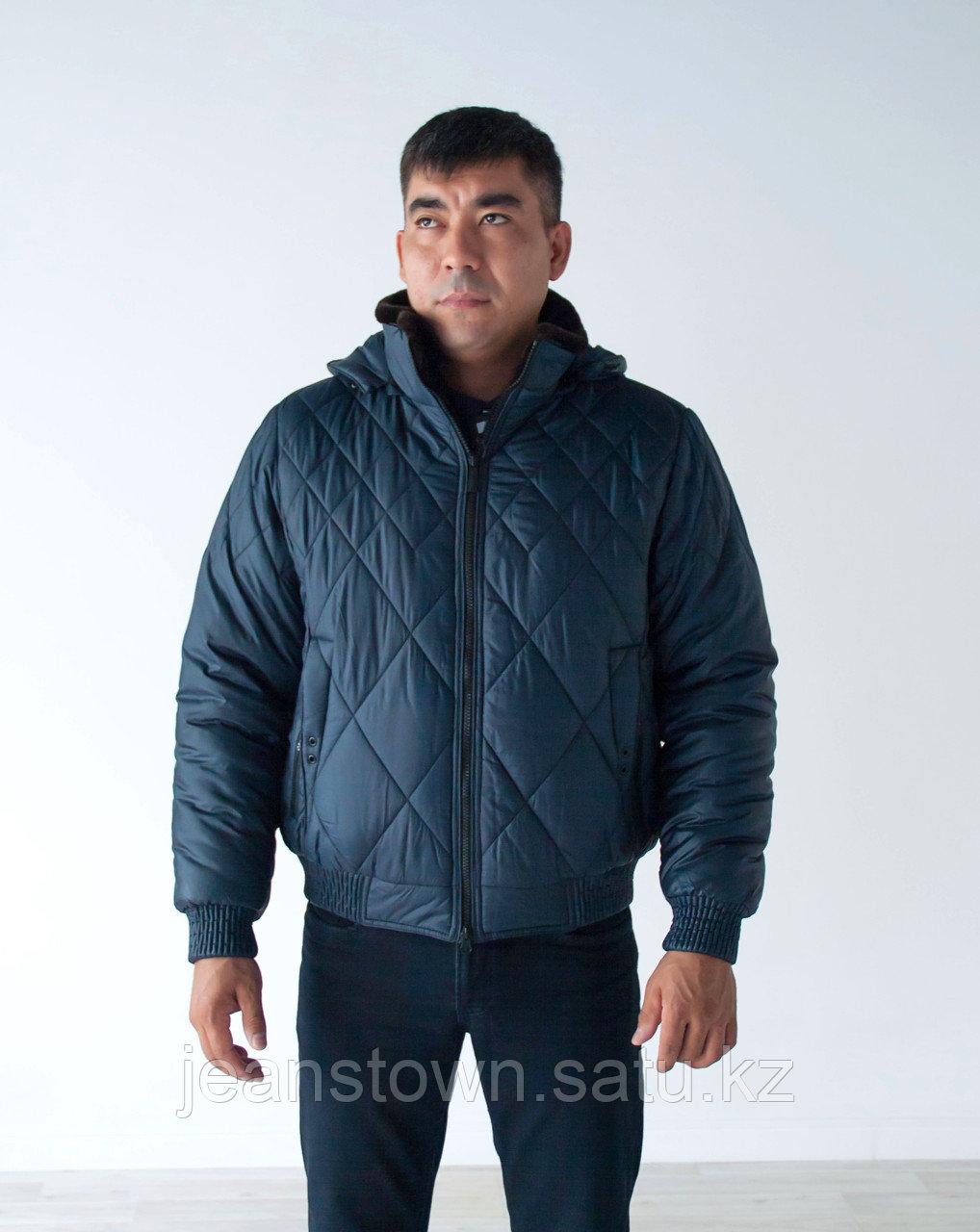 Куртка мужская зимняя City Class короткая,синяя