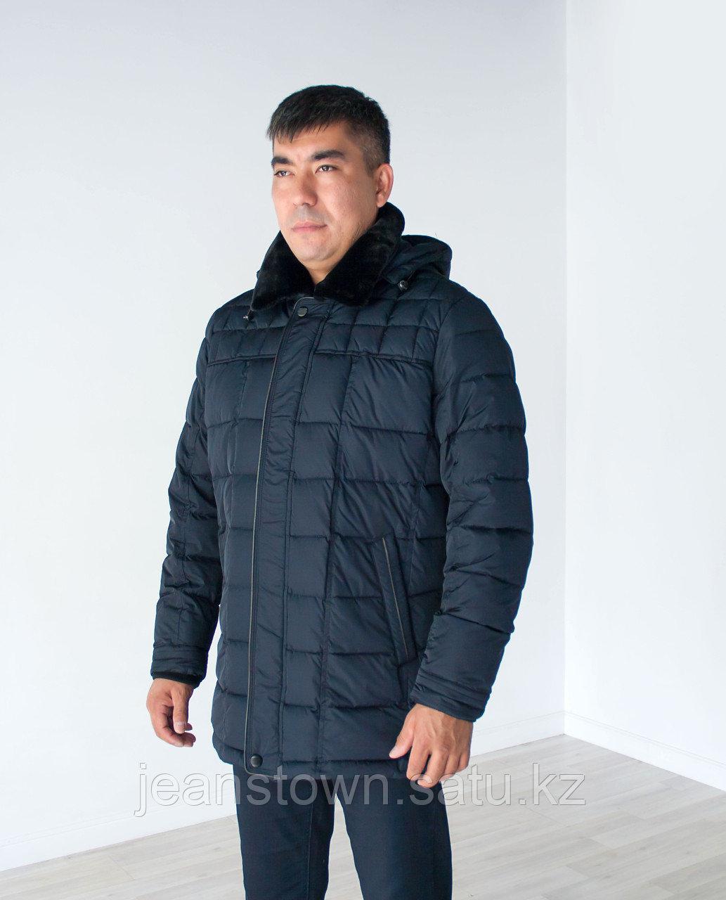 Куртка мужская зимняя City Class длинная,синяя