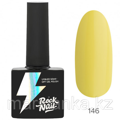 Гель-лак RockNail Basic #146 Ceylon Yellow, 10мл, фото 2
