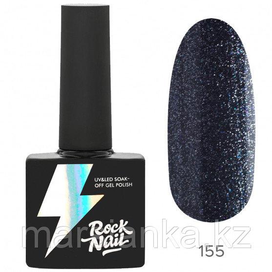 Гель-лак RockNail Basic #155 Sparkly Graphite, 10мл