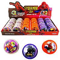 Yo-Yo With Light Spider Man Йо-Йо Светящаяся (4 цвета) (1уп. - 24шт.), фото 1