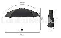 Зонт складной карманный черный однотонный Banders