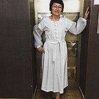 Дизайнерское белое платье, фото 1