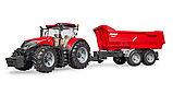 Трактор Case IH Optum 300 CVX с прицепом Krampe Tandem-Halfpipe  №03-199, фото 2