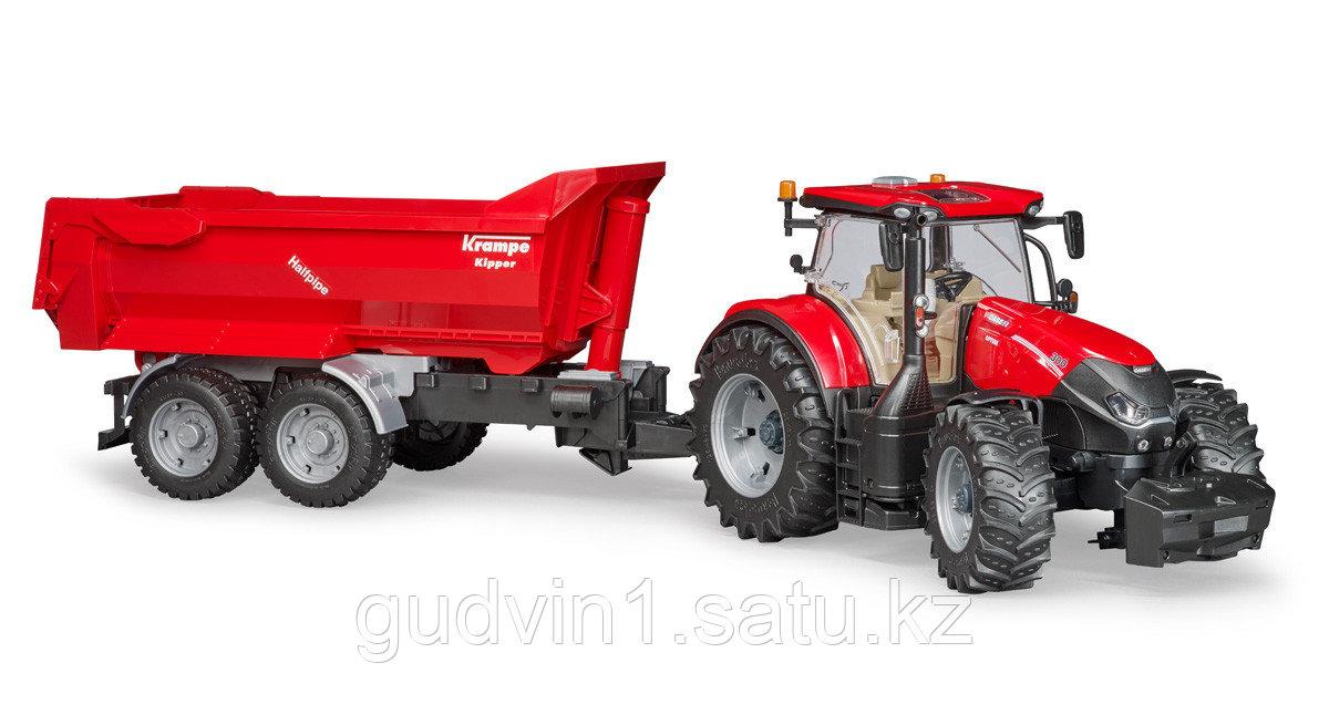 Трактор Case IH Optum 300 CVX с прицепом Krampe Tandem-Halfpipe  №03-199