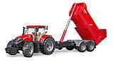 Трактор Case IH Optum 300 CVX с прицепом Krampe Tandem-Halfpipe  №03-199, фото 3