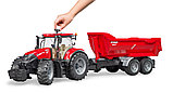 Трактор Case IH Optum 300 CVX с прицепом Krampe Tandem-Halfpipe  №03-199, фото 4
