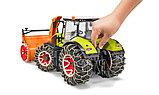 Трактор Claas Axion 950 c цепями и снегоочистителем №03-017, фото 2
