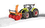 Трактор Claas Axion 950 c цепями и снегоочистителем №03-017, фото 4