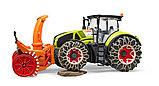 Трактор Claas Axion 950 c цепями и снегоочистителем №03-017, фото 3