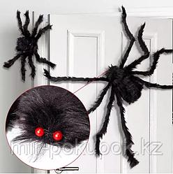 Паук черный декоративный для Хэллоуина 40 см