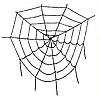 Декоративная большая паутина на Хэллоуин круглая (белая и черная), 50 см, фото 2