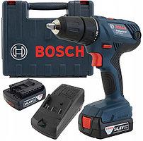 Шуруповерт, Bosch GSR 140-LI Professional (2 акк 1,5 Ач) в кейсе  (06019F8020)