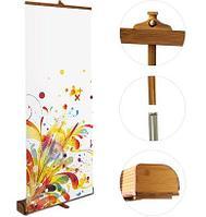 Ролл ап Бамбук мобильная конструкция / Roll-Up Bamboo стенд