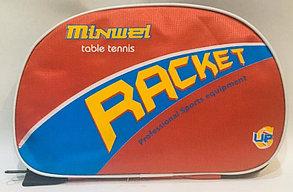 2 Ракетки для настольного тенниса Minwei table tennis Racket 6022 в чехле, фото 3