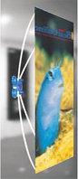 X-стенд без опоры на пол / на присоске к стеклу / X-stend window мобильная конструкция / Паук на стекло