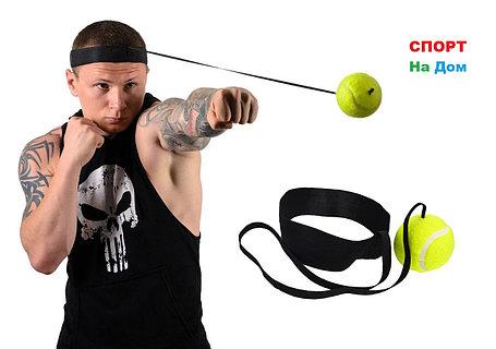 Тренажер теннисный мяч на голову для бокса на резинке, фото 2