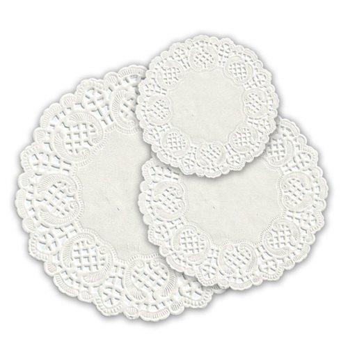 Салфетки серв. d 19см(внутр-11см), бел. бум.
