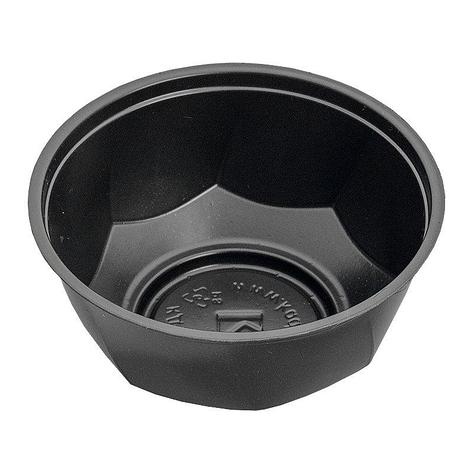 Креманка 200мл, кругл., d 110мм, h 45мм, чёрн., ОПС, 1000 шт, фото 2