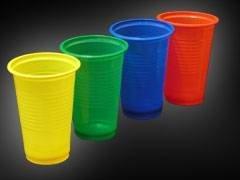Стакан для холодных и горячих напитков, 0.20л, красный , 3500 шт