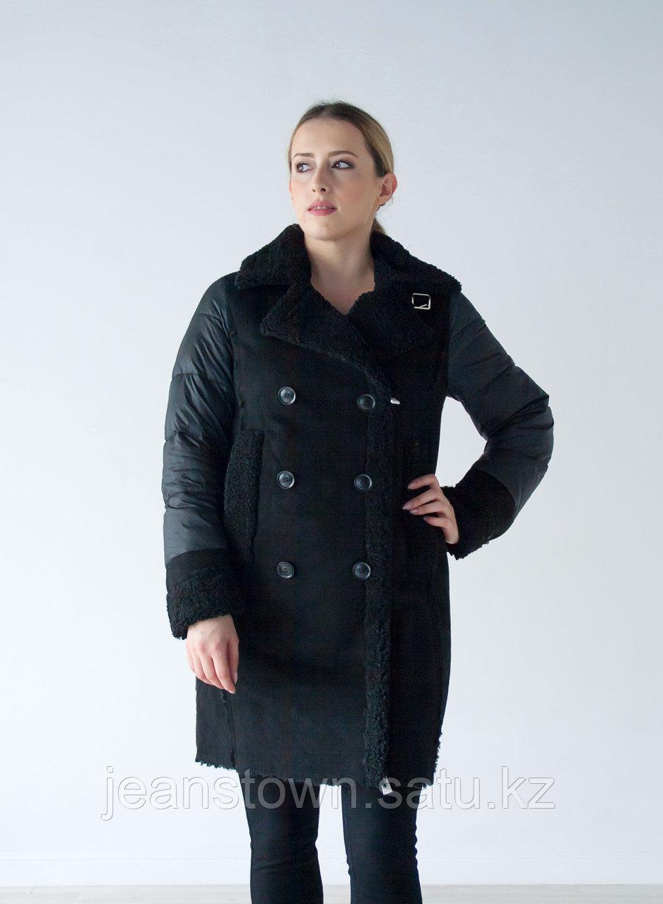 Куртка женская зимняя Evacana длинная, черная