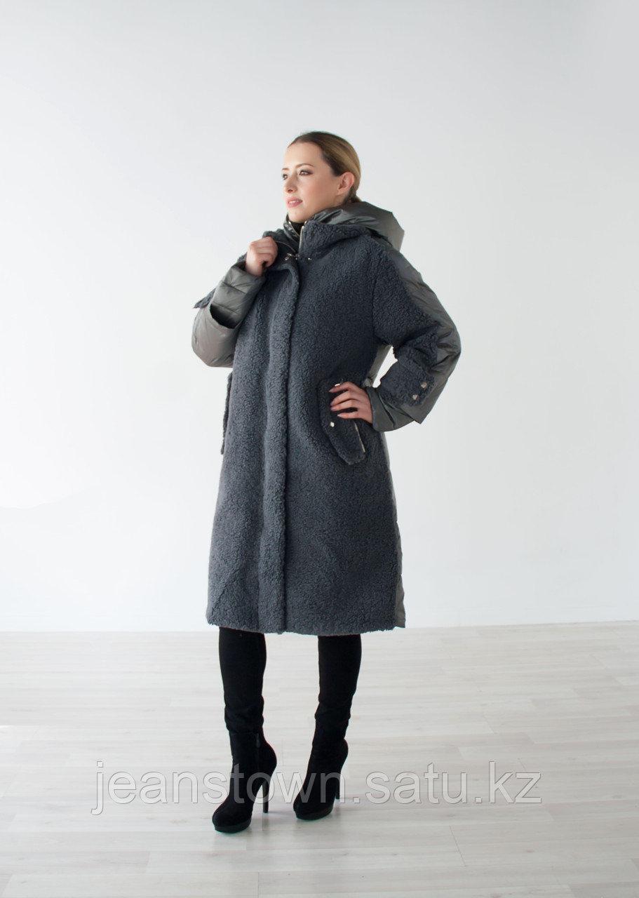 Куртка женская зимняя Evacana длинная, серая