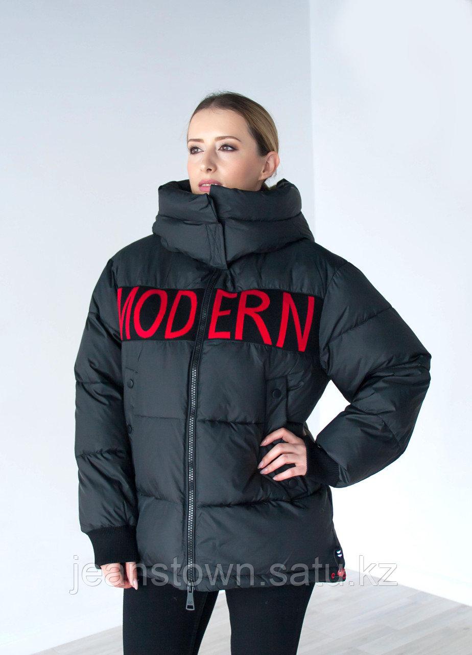 Куртка женская зимняя Evacana черная, короткая