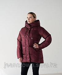 Куртка женская зимняя Evacana бордовая