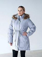 Куртка женская зимняя Snowimage,натуральный мех енота на капюшоне