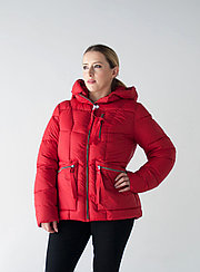 Куртка женская зимняя Snowimage короткая, красная