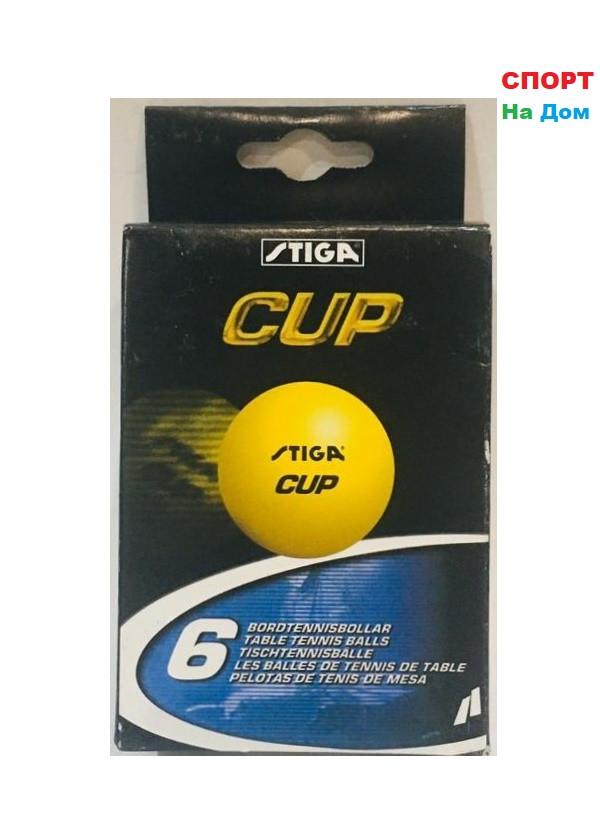 Мячи для настольного тенниса Stiga Cup 6 шт. в упаковке (цвет оранжевый)