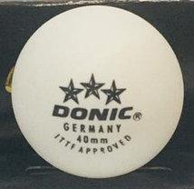 Мячи для настольного тенниса Donic 3 шт. в упаковке (цвет белый), фото 3