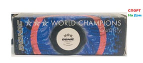 Мячи для настольного тенниса Donic 3 шт. в упаковке (цвет белый)