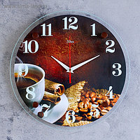 """Часы настенные, серия: Кухня, """"Чашка кофе"""", 30х30 см , микс"""