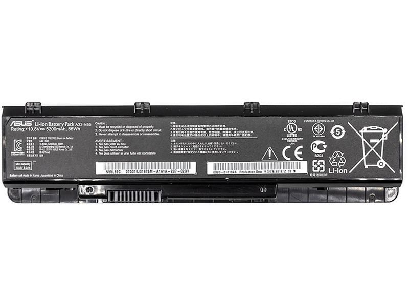 Аккумулятор PowerPlant для ноутбуков ASUS A32-N55 (A32-N55) 11.1V 5200mAh