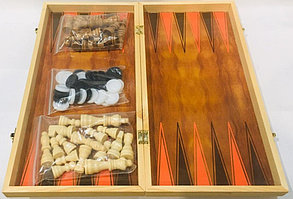 Нарды, шашки, шахматы набор 3 в 1 Sulida, фото 2