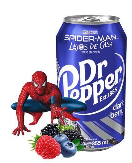 Dr.Pepper Dark Berry Темная Ягода Spider Man 0,355 литра
