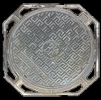 Люк тротуарный на шарнире из ВЧШГ, нагрузка 1,5т., 600/700, Высота 50см., Вес 30кг., фото 1