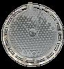 Люк чугунный тяжелый (С250) из ВЧШГ, 650/850, Высота 10см., Вес 52кг.