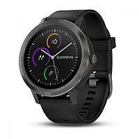Спортивные часы Garmin Vivoactive 3 черные с черным ремешком